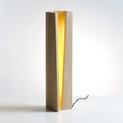'Elagone' wooden lamp by Elomax Agency.