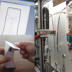 Origami in Plexiglas - the CUT'N FOLD process by the Northeim company, Hannecke