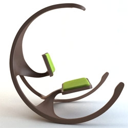 Not sure what to think of this revisionist rocking chair. Rocking Wheel Chair my Mathias Koehler