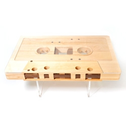 A mixtape coffee table from Jeff Skierka Designs.