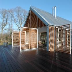 A barn in the Countryside by Kwint Architekten in Eelde, the Netherlands.