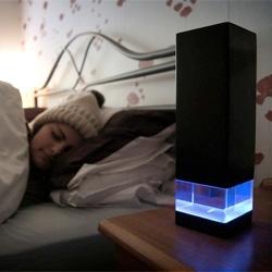 夜間night* aims to discourage phone use in bed and aid the process of drifting off to sleep. Designed by Douglas Wood.