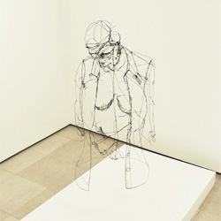 Beautiful wire sculptures from David Oliveira that look like floating sketches.