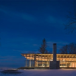Combs Point Residence in Finger Lakes, New York by Bohlin Cywinski Jackson.