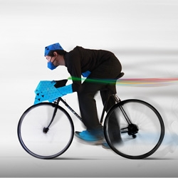 BikeBorg, a project from students at the Copenhagen Institute of Interaction Design exploring the interaction between bike and rider.