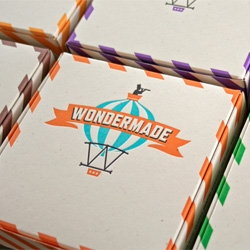 Adorable packaging for Wondermade marshmallows designed by The Heads of State and printed letterpress by Studio on Fire.