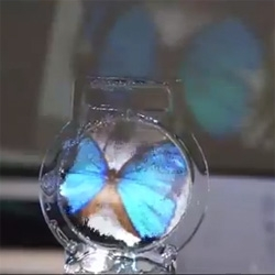 A Colloid Display, this sonically controlled soap bubble could be the world's thinnest transparent display.