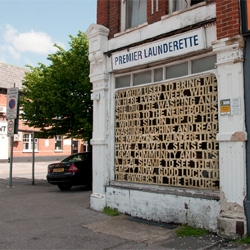 Kingston University student Leanne Bentley's pretty use of typography on closed down buildings.
