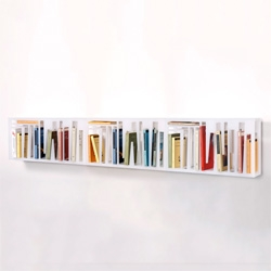The Bookshape Bookshelf by Davide Radaelli is a book container whose shape is defined by the books, because the original idea was that the content had to give shape to its container.