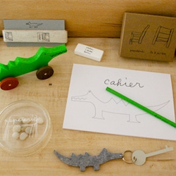 Kazuko Horii's 2011 'Crocodiles & Stationery' exhibition at Claska, Tokyo.