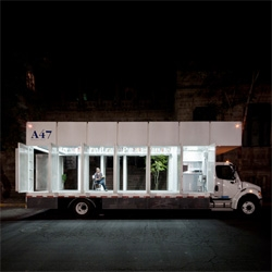 A47, a mobile art library by Productora that travels around Mexico City.