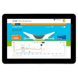 Applied Works web-based app for EDF shows how much energy is being used at London 2012 Olympic venues.