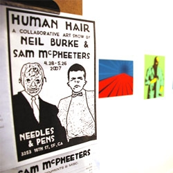Neil Burke on the show Human Hair. Great works and  a funny atmosphere.