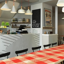 La Petite Bretagne , a Breton creperie in West London designed by Paul Crofts Studio.