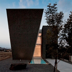 The striking architecture of the Ginan House by Keitaro Muto Architects.
