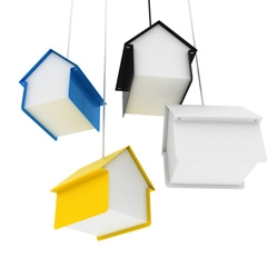 The Hut Pendant Light a beacon of light and shape, which directs our gaze upwards, pointing us home. From Australian based Under.
