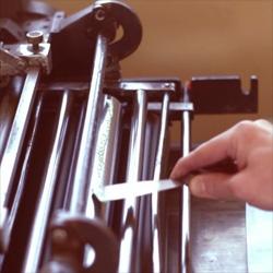 Making of letterpressed Seea hangtags by Voila! Press.