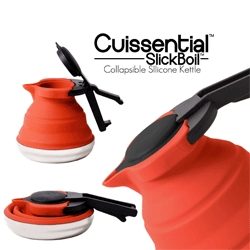 The Cuissential SlickBoil is a collapsible, silicone tea kettle!