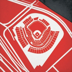 CityPrints are now creating prints of Professional Baseball Fields with their new series Ballparks.