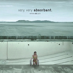 Clever advert: Very, very absorbant!