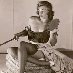 Interesting look at Gil Elvgren's transformation of the real pin up girls from photos of real women to iconic paintings.