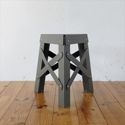 Shigeki Fujishiro's aluminum Eiffel stacking stools for RS Barcelona.