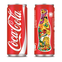 Sleek coke cans to celebrate the festivities of Catalan from Publicis Groupe.