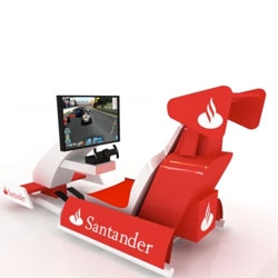 Stantander's Rio F1 simulator makes you feel the adrenalin gushing ride.