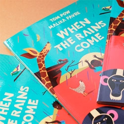 'When The Rains Come', an adorable children's book illustrated by Malika Favre for the charity Malawi Underprivileged Mothers.
