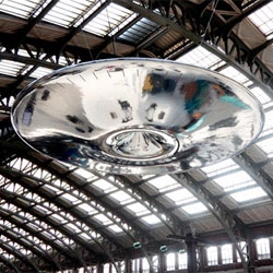 UFO by Ross Lovegrove now hovers above rail passengers at Lille Flandres station.
