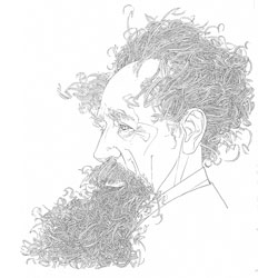 Beautiful portraits by David Johnson. This is Charles Dickens.