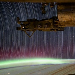 Amazing footage of startrails from the ISS.