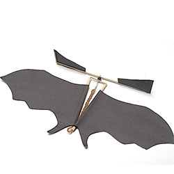 Make your own toy batcopter for Halloween.