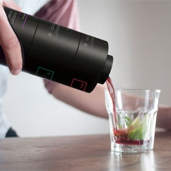 Tatabi Studio's Enkaja cocktail mixer, an interesting shaker that helps you make your own cocktails through interlocking sections.