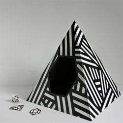 Cute Energy Pyramid Cat House from Love Thy Beast.