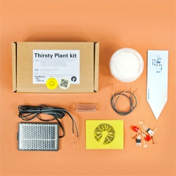Cute DIY Thirsty Plant Kit from Technology Will Save Us lets you make your own solar pow- ered plant thirst detector.