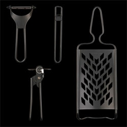 Gorgeous matte black kitchen utensils from Unionmade.
