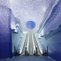 The gorgeous Toledo metro station in Naples by Oscar Tusquets Blanca.