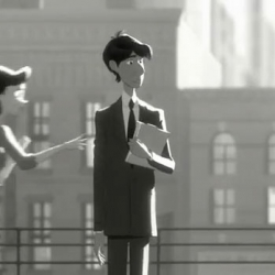 In Paperman, first-time director John Kahrs merges computer-generated and hand-drawn animation techniques.