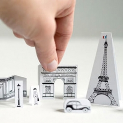 Minimal design printable cutouts of iconic selections from Paris.