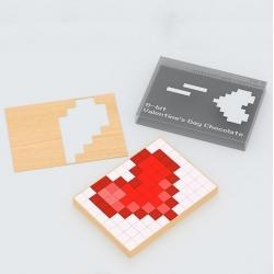 Néstor Silvosa's 8-bit Valentine's chocolate/card.