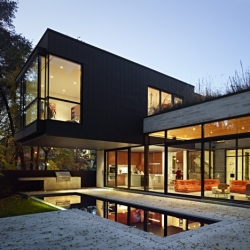 The Cedarvale Ravine House by Drew Mandel Architects.