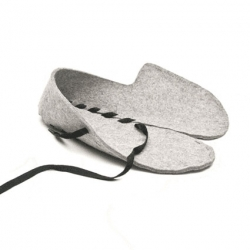 Gaspard Tiné-Berès's flat packed slippers, Lasso.