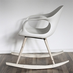 Kristalia's award winning Elephant Chair has gone rocking under the hands of German designers Paster, and Geldmacher.