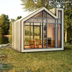 The Bunkie, lovely prefab collaboration between industrial design firm 608 Design and the architectural design firm BLDG Workshop.