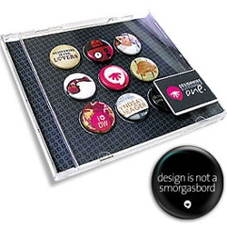Fun button pack over at DesignWire - quite like the idea of using the CD case ... they might not think design is a smorgasbord, but .org sure is one
