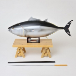 A tuna model from Tsukiji Fish Market stall holder Kazuyoshi Watanabe and Hobbystock that can be used to teach you to dissect a fish.