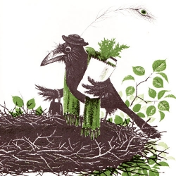 Lovely illustrations from The Crows of Pearblossom, the one and only children's book by Aldous Huxley.