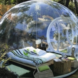 Attrap Rêves, a French countryside hotel in Marseilles that invites guests to sleep under the stars in their transparent pods.