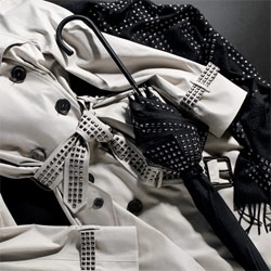 I seem to have acquired a morbid fascination with this whole Burberry attempt to go pseudo punk with over studding...